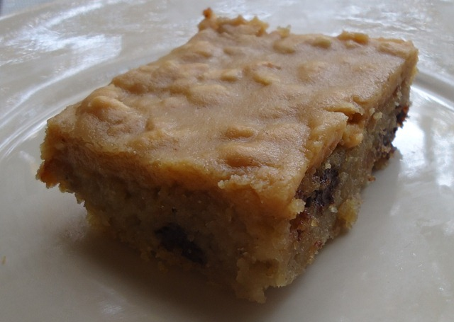 banana blondies with chocolate chips the wannabe chef