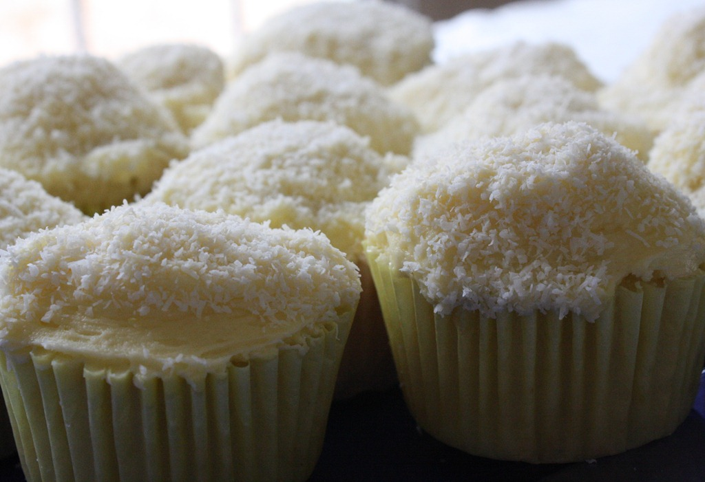 Semi-Homemade Coconut Cupcakes With Lemon Buttercream | The Wannabe ...