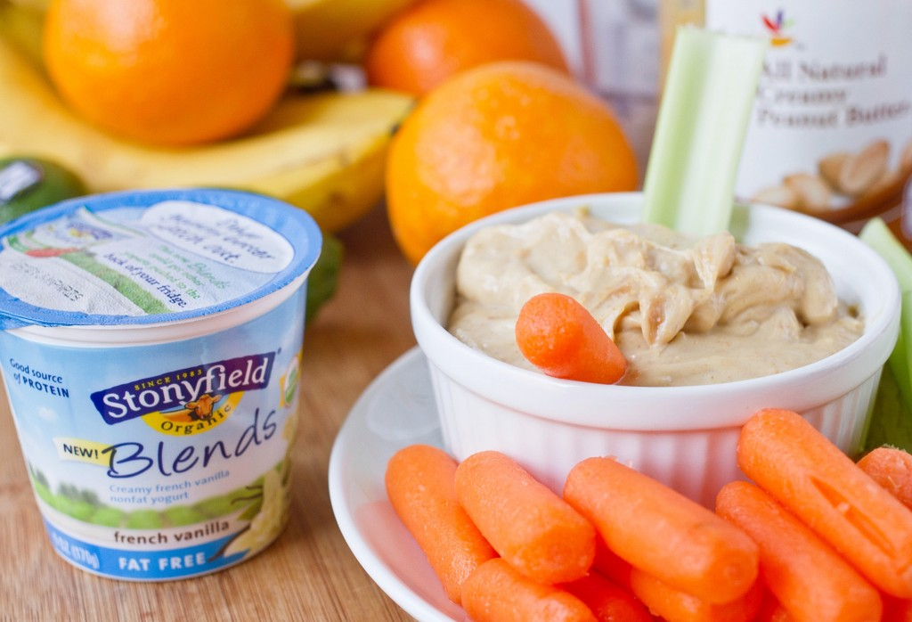 Fruity Peanut Butter Yogurt Dip Yogurt