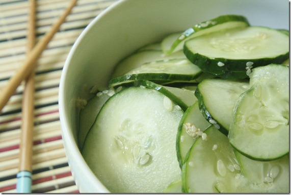 Japanese Sesame Cucumber Salad | The Wannabe Chef