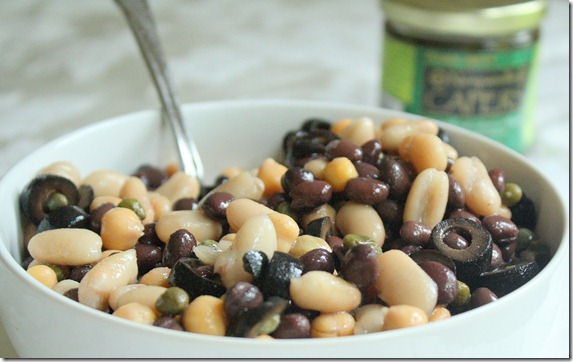 what-are-capers-bean-salad