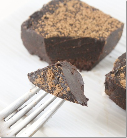 raw-chocolate-ganache-torte-on-fork