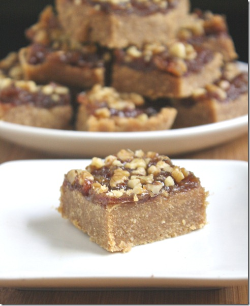 ... date bars baked bars gluten free date walnut bars recipe key