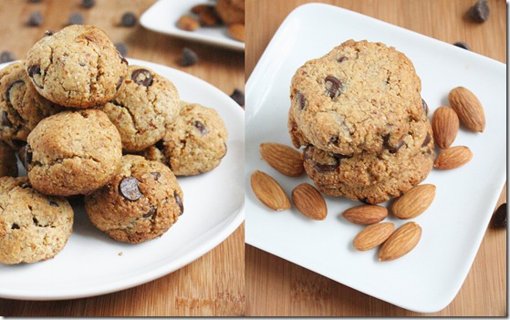 almond-flour-chocolate-chip-cookies-collage