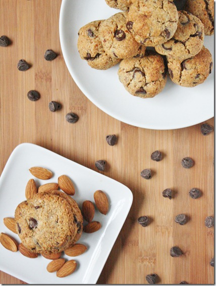 almond-flour-chocolate-chip-cookies-overhead