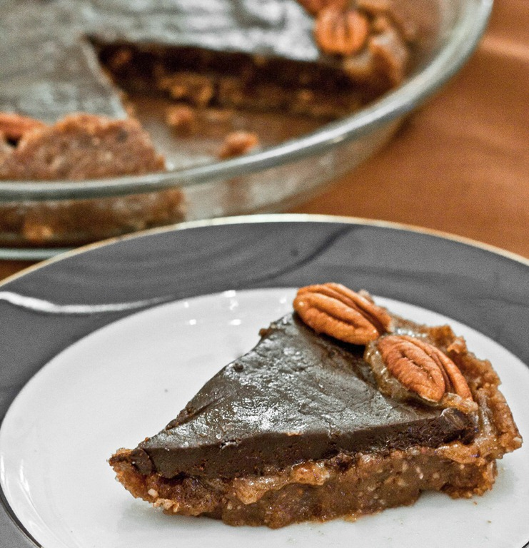 Raw Salted Caramel Chocolate Pecan Torte | The Wannabe Chef