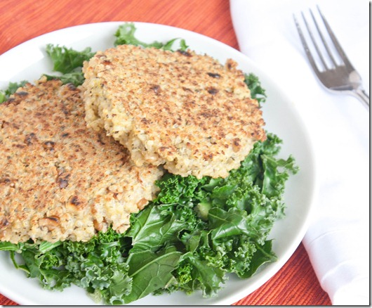 walnut-and-herb-quinoa-cakes