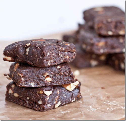 raw-salted-almond-brownies-stack