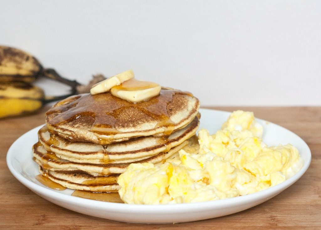 FLUFFY Whole Grain Vegan Pancakes made with spelt flour. So fluffy,  delicious, and