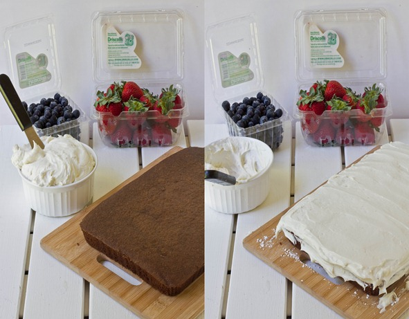 Gluten-Free Chocolate Flag Cake Collage 2