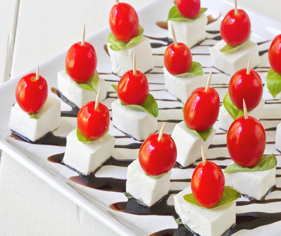 Mini Caprese Salads Recipe — Dishmaps