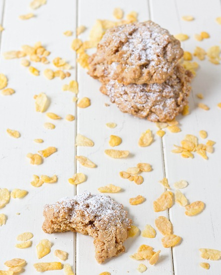 Peanut Butter Corn Flakes Cookies Bite