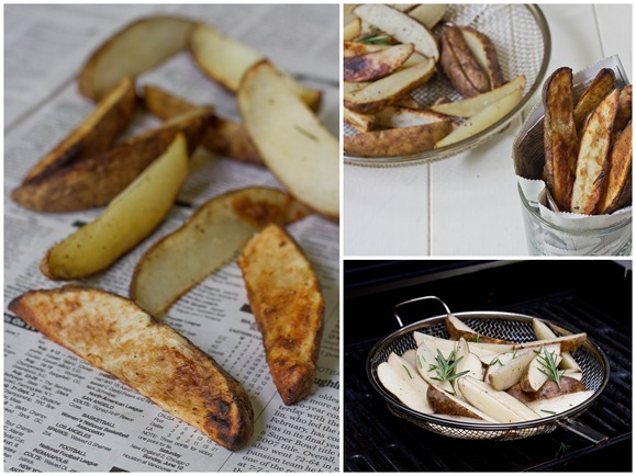Perfect Grilled Potatoes Collage