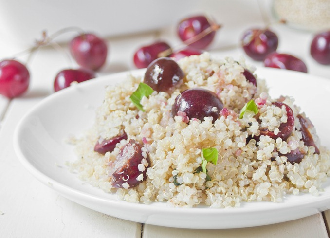 Cherry Basil Quinoa Plated