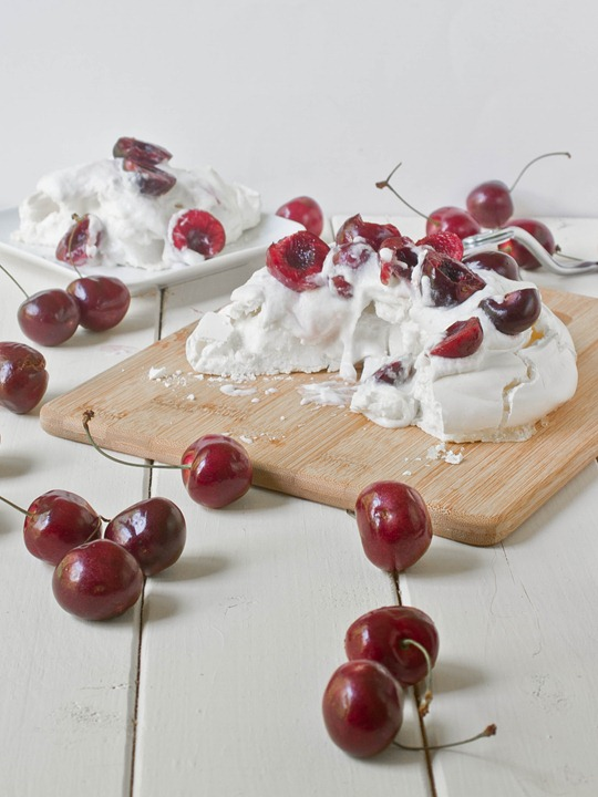 Cherry Coconut Pavlova