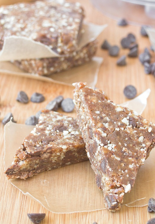 Copycat Peanut Butter Chocolate Chip Larabars Serving