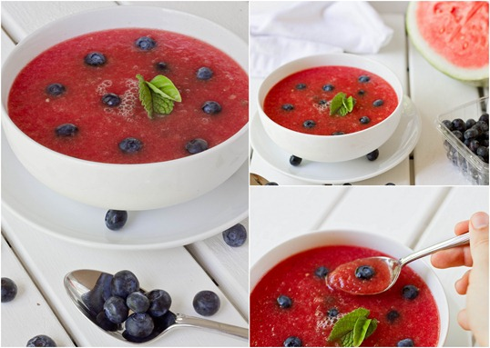 Easy Chilled Watermelon Soup Collage