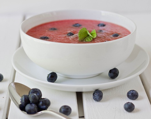 Easy Chilled Watermelon Soup Serving