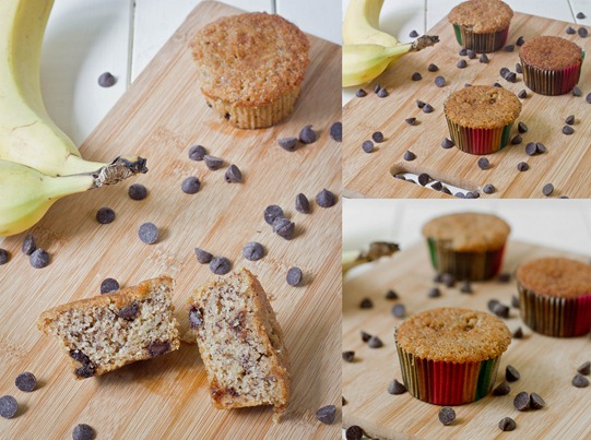 Gluten-Free Banana Chocolate Chip Muffins Collage