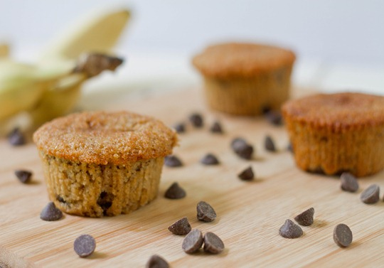 Gluten-Free Banana Chocolate Chip Muffins Wide