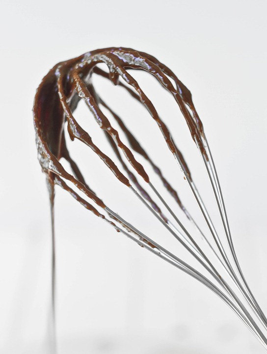 Almond flour brownies whisk