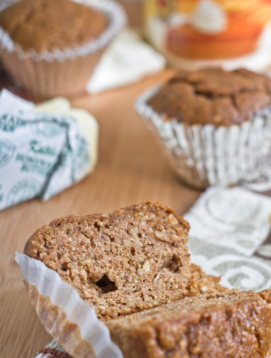 Grain-Free Pumpkin Muffins Sliced