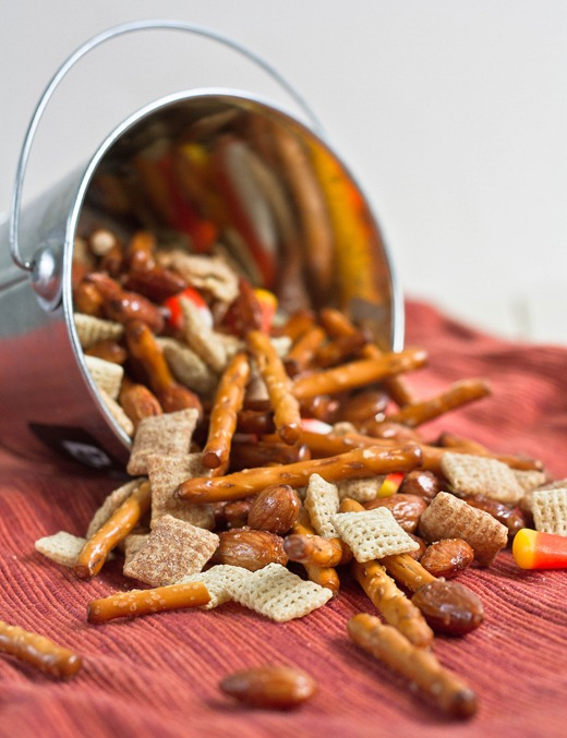 Salty-Sweet Halloween Chex Mix Bucket