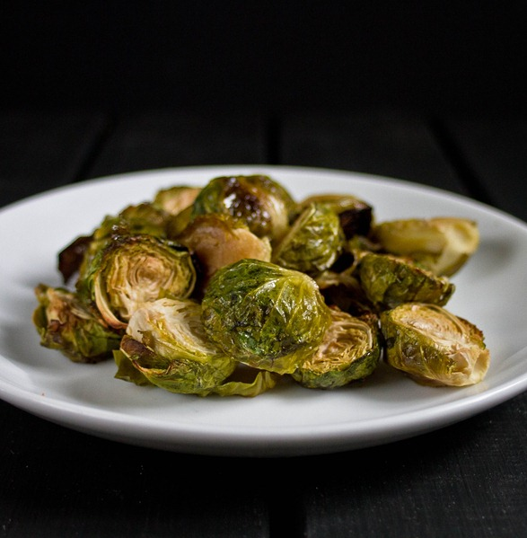 Maple Roasted Brussels Sprouts Plated