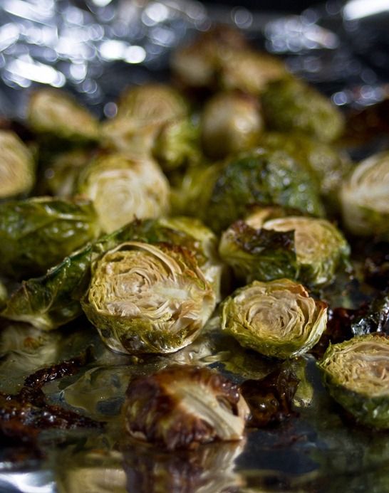 Maple Roasted Brussels Sprouts Roasting