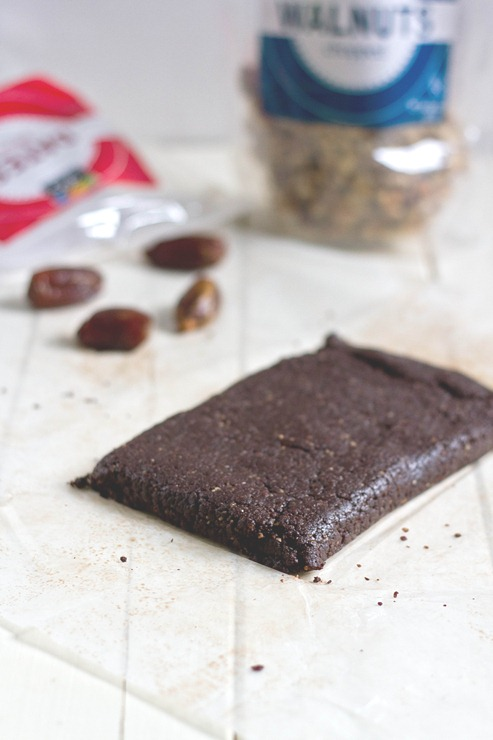 Raw Walnut Brownies Block