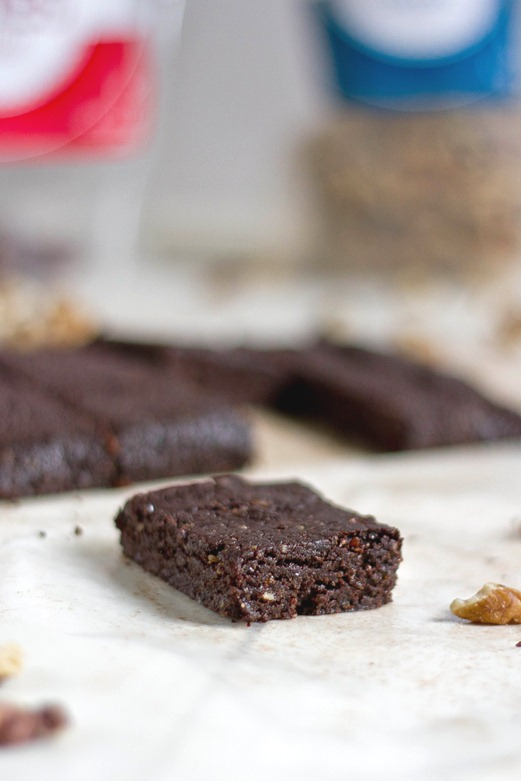 Raw Walnut Brownies Serving