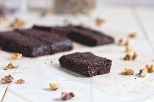 Raw Walnut Brownies