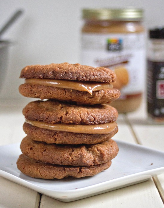 Maple Almond Butter Sandwich Cookies