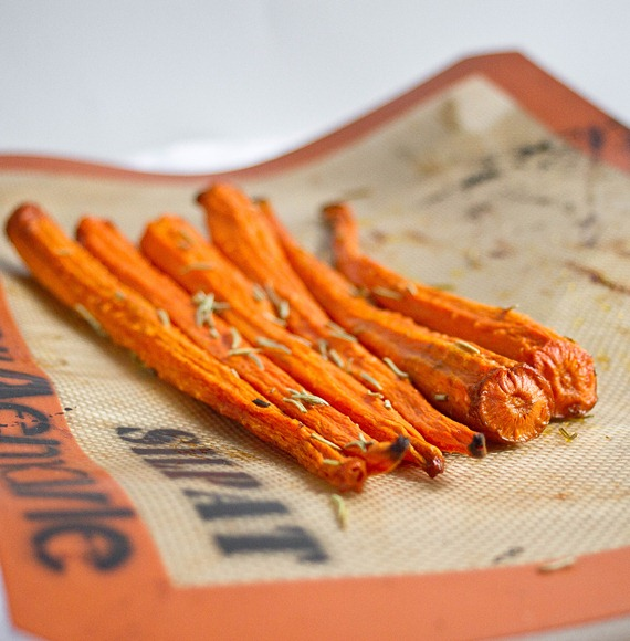 Vanilla Rosemary Carrots Roasted