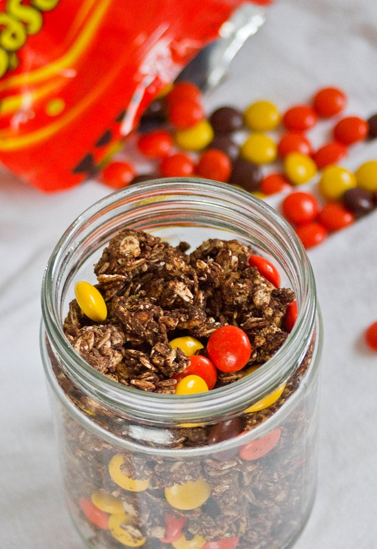 Reese's Pieces Granola Jar 2