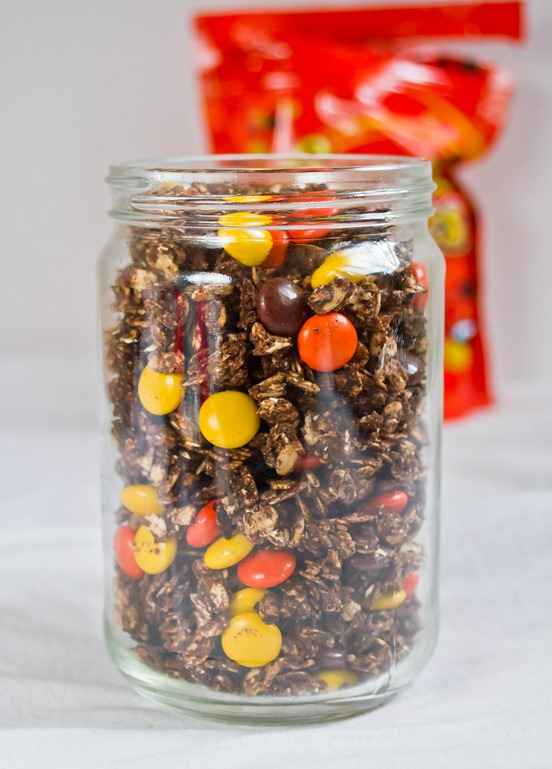 Reese's Pieces Granola Jar