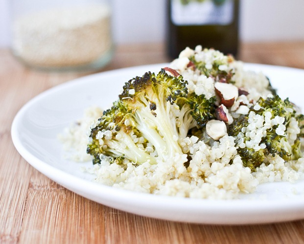 Roasted Broccoli Quinoa Serving