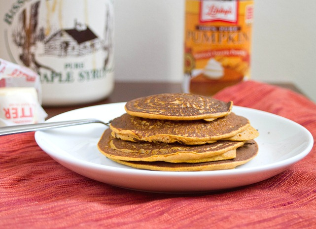 gluten-free pumpkin pancakes finished