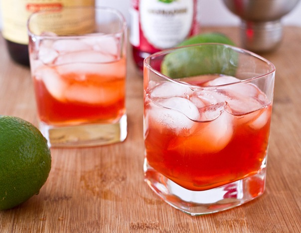 Amaretto Sour with Grenadine Serving