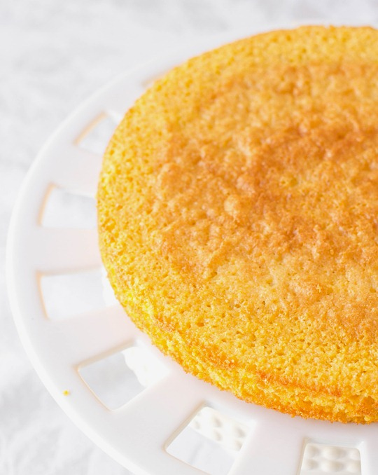 Lemon Cornmeal Cake Bare