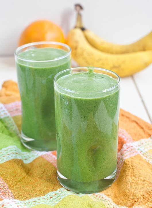 Orange Spinach Smoothie Yield