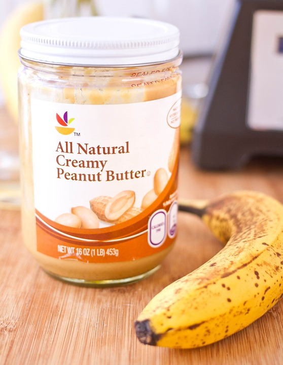 Peanut Butter Banana Breakfast Smoothie Ingredients