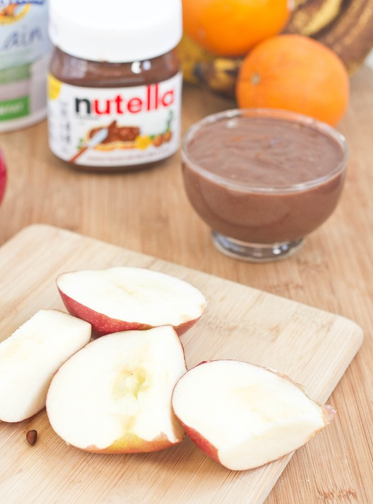 Nutella Yogurt Dip Fruit
