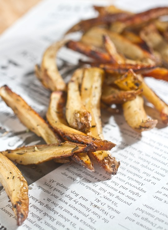 Balsamic Herb Oven Fries Done