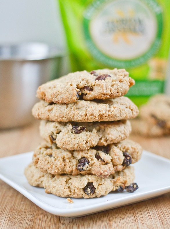 Oat Bran Raisin Cookies