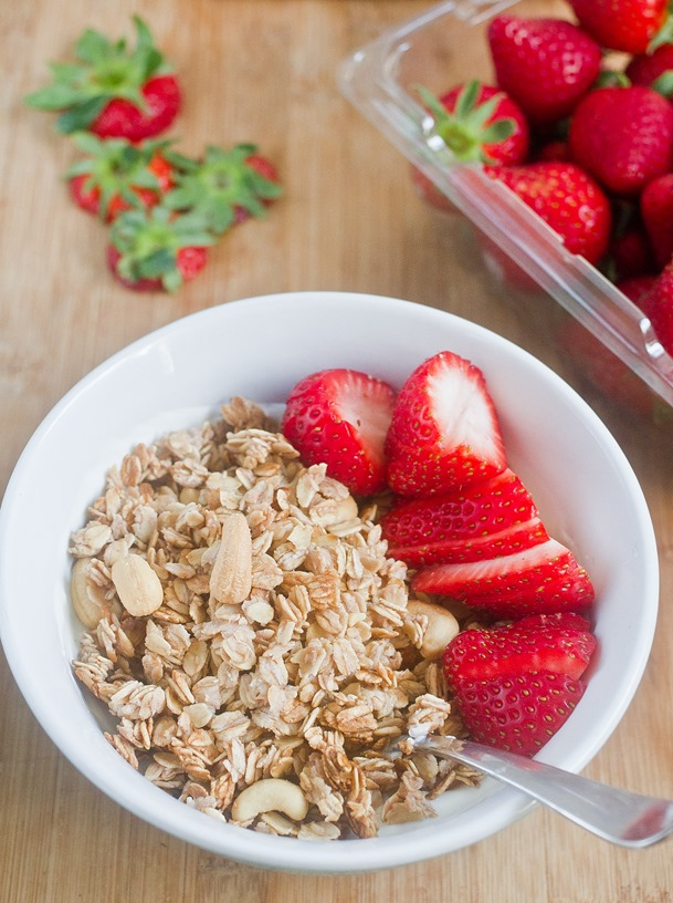 Strawberry Cashew Granola
