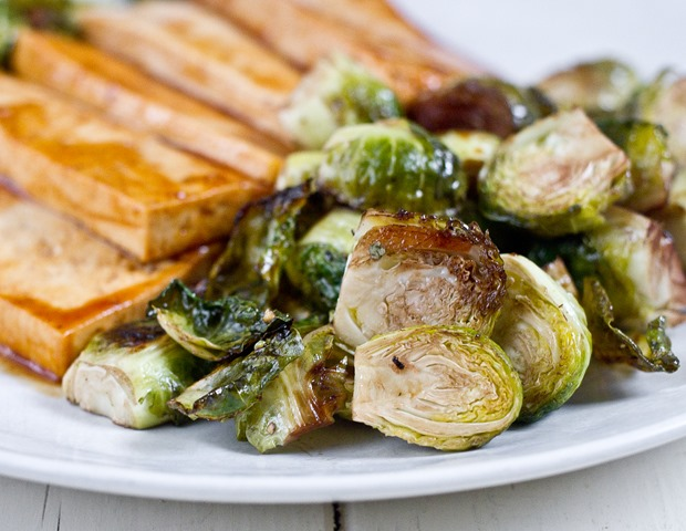 Roasted Balsamic Brussels Sprouts   The Wannabe Chef