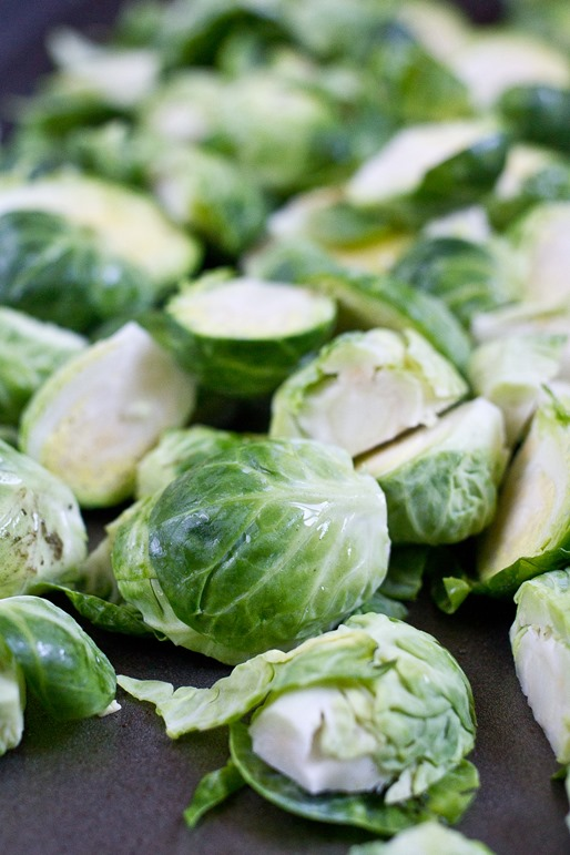Roasted Balsamic Brussels Sprouts Prep