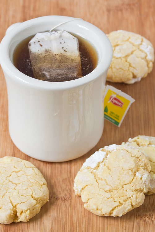 Gluten-Free Lemon Crinkle Cookies Tea