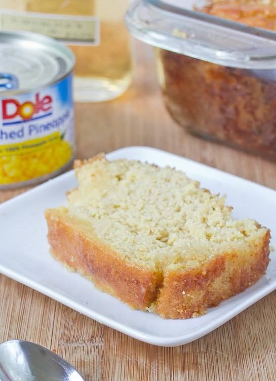 Gluten-Free Pineapple Rum Bread Serving